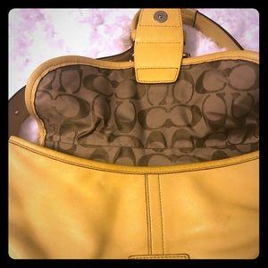 COACH vintage yellow bag
